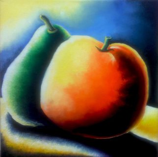 Katie Puenner Artwork Peachy and Orange, 2014 Oil Painting, Food