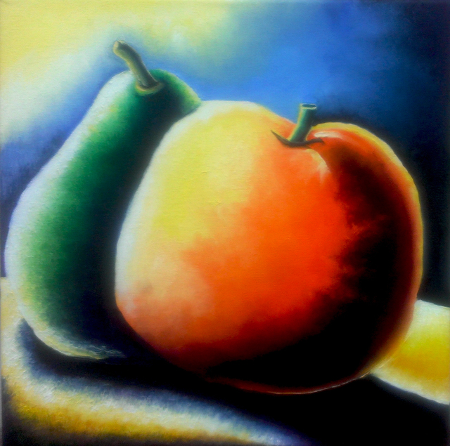 Katie Puenner  'Peachy And Orange', created in 2014, Original Painting Oil.
