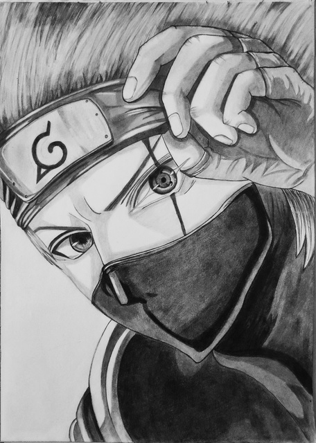 Gurpreet Singh  'Kakashi', created in 2019, Original Drawing Graphite.