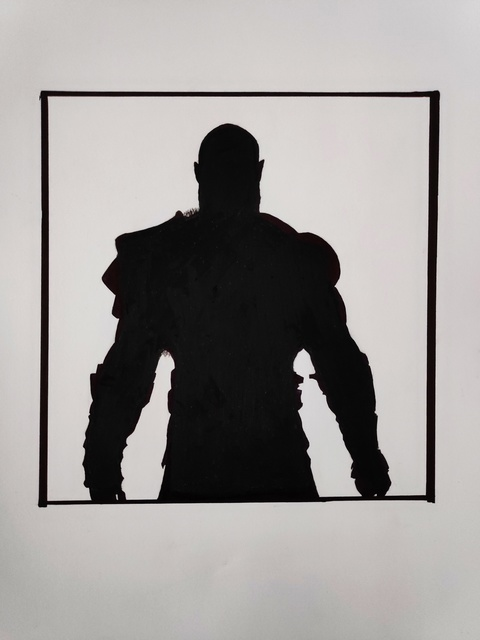 Gurpreet Singh  'Kratos', created in 2019, Original Drawing Graphite.