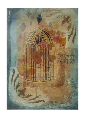 Frank Hoffmann Artwork golden cage, 2016 Other, Abstract