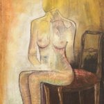 nude on chair By Frank Hoffmann