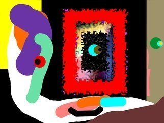 Gilberto Jose Alexander Moreno: 'abstracto 621 b', 2017 Digital Painting, Abstract.