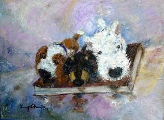 K C Tan Bee Artwork Doggy Dreams, 2007 Oil Painting, Dogs