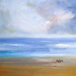 , Children By The Sea, Landscape, $368