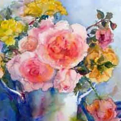 , Rose Reflections, Floral, $525