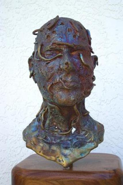 Stephanie Grimes  'Addiction', created in 2005, Original Sculpture Bronze.