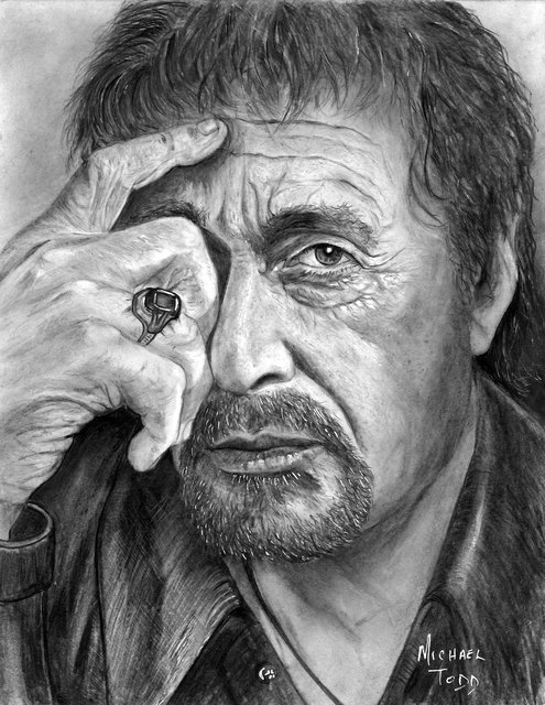 Michael Todd  'Al Pacino', created in 2018, Original Printmaking Giclee.