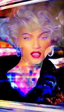 Michael Todd: 'marilyn monroe', 2018 Digital Drawing, Celebrity. Artist Description: My rendition of Marilyn glamorized. ...