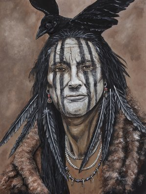 Michael Todd: 'war paint', 2012 Acrylic Painting, Americana. Artist Description: Native American Indian for sale in print form only from my website