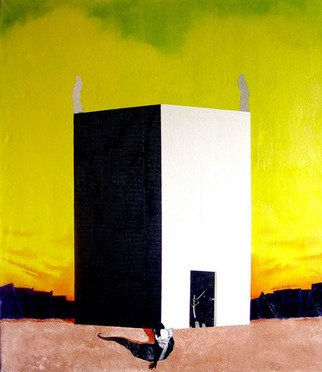 Wojciech Lorbiecki: 'Arrival of Messenger', 2006 Other Painting, Other.  Mixed media on canvas  ...