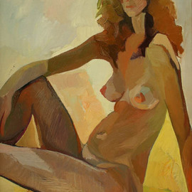 Ludmila Guryeva: 'Summer', 2002 Oil Painting, Nudes. Artist Description:  canvas, oil ...