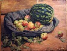 - artwork Watermelon_and_apples-976848368.jpg - 1995, Painting Oil, Still Life