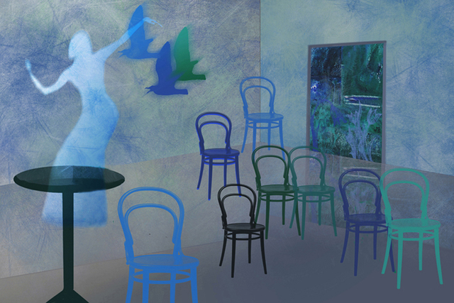 Marlies Odehnal  'Dancing Chairs', created in 2009, Original Digital Painting.
