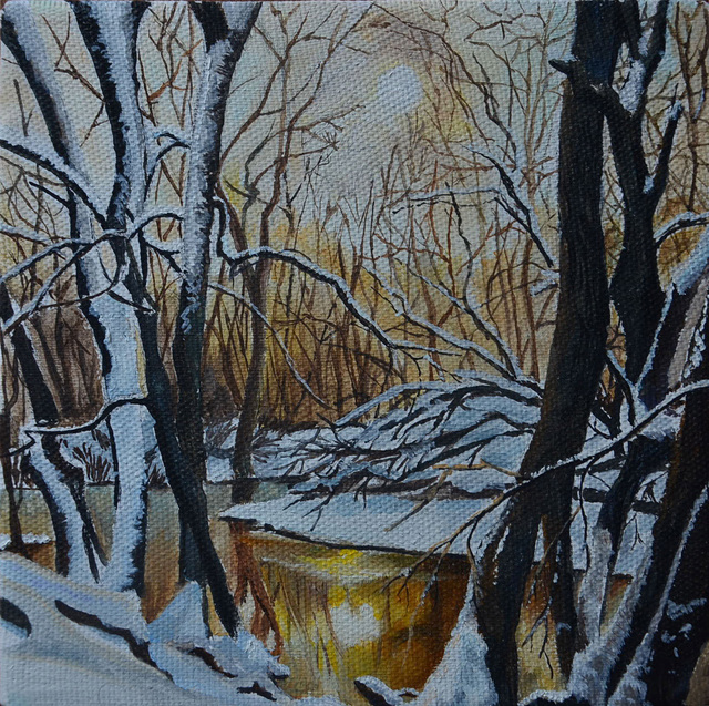 Alena Vladimirovna  'Evening Winter Forest', created in 2017, Original other.