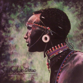 Samburu Tribesman  By Judith Smith Wilson