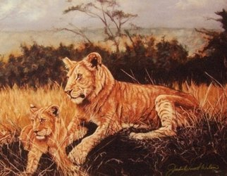 Artist: Judith Smith Wilson - Title: The Young Lions - Medium: Watercolor - Year: 2005