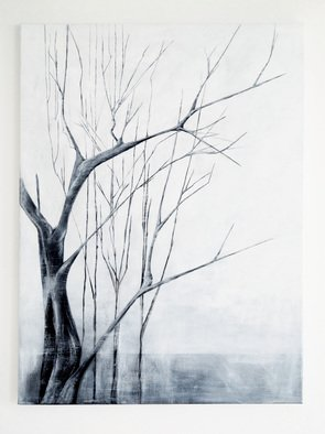 Trees Acrylic Painting by Nadia Moniatis Title: Trees, created in 2013
