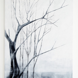 Nadia Moniatis: 'Trees', 2013 Acrylic Painting, Trees. Artist Description:  nature, trees, landscape, contemporary, abstract ...