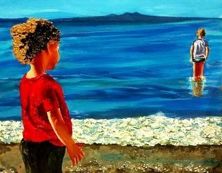 Eli Gross Artwork Sea Children of the Sea  , 2016 Acrylic Painting, People