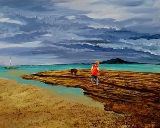 Eli Gross Artwork the child is wandering, 2017 Acrylic Painting, People