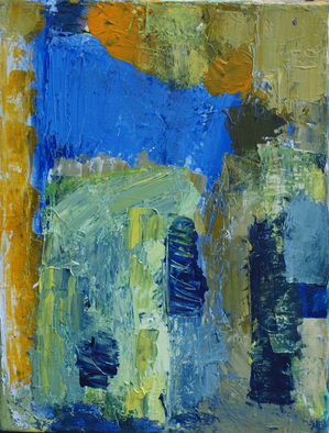 Acrylic Painting by Palle Adamos Finn Jensen titled: Cafe, 2014