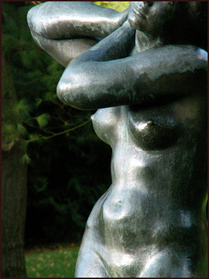 Artist: Palle Jensen - Title: Statue in Botanic Garden No21 - Medium: Color Photograph - Year: 2005