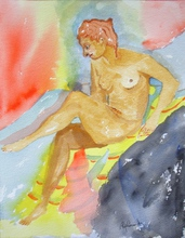 - artwork Diana_Resting-1211101915.jpg - 2008, Watercolor, Figurative