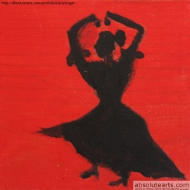 Roger Cummiskey: 'Spanish Dancer   SOLD', 2013 Oil Painting, Education. Artist Description:  Based on Flamenco dancing. ...