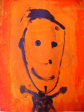 Nunzio Zurzolo: 'the child who fell in love', 2011 Tempera Painting, Abstract Figurative.