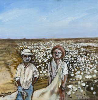 Sue Conditt Artwork Young Cotton Pickers, 2015 Acrylic Painting, History