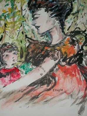 Itoffee Gayle: 'Mama and Me', 2013 Acrylic Painting, undecided. Artist Description:  art, mother and child, love,  beauty ...