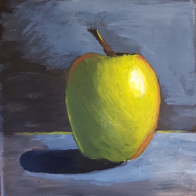 Natalya Sintsova  'Apple', created in 2020, Original Painting Acrylic.
