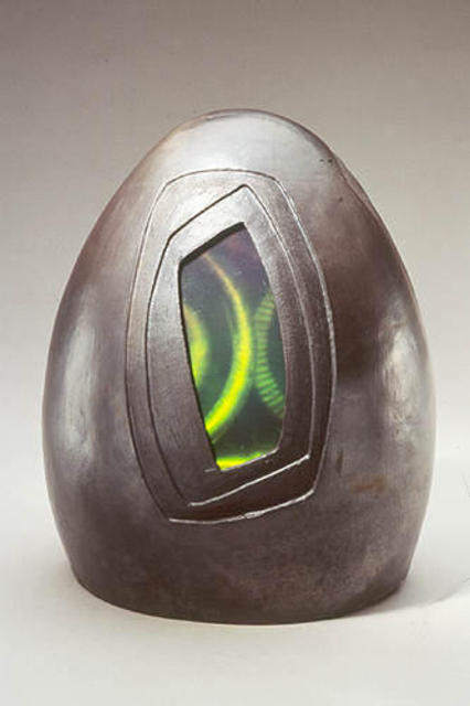 Artist Karen Brown. 'Faceted Biovoid' Artwork Image, Created in 2003, Original Sculpture Ceramic. #art #artist