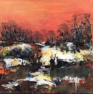 Aniko Hencz: 'morning light', 2016 Acrylic Painting, Abstract Landscape. Artist Description: Abstract landscape acrylic painting on heavy paper. The artwork is signed and dated in front and accompanied with certificate of authenticity signed by me. ...