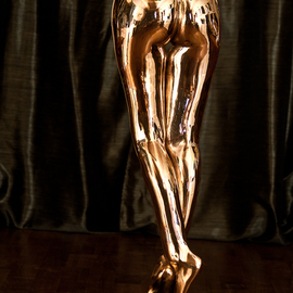 Artur Kalinski: 'Perfect Body', 2016 Bronze Sculpture, Body. Artist Description:  body, legs, bronze, gold, polished, sexy, bottom, naked, nude, ass, backside, woman, girl, beautifull,...
