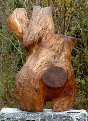 Wood Sculpture by Geert Vanderplancke titled: NO TITLE, 2013