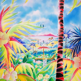 Hisayo Ohta: 'Door to the paradise', 2005 Other Painting, Travel. Artist Description:   Painting on silk.Bali, Indonesia                                                        ...