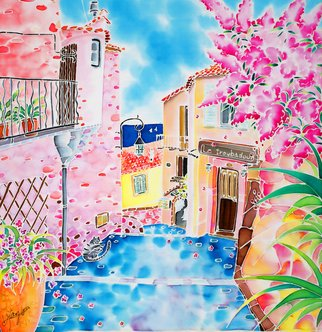 Hisayo Ohta: 'Mediterranean wind', 1999 Other Painting, Travel. Artist Description:  Village of Eze, France                                                                      ...