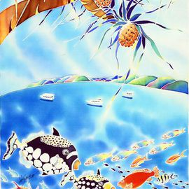Hisayo Ohta: 'Okinwa Cyuraumi paradise', 2014 Other Painting, Travel. Artist Description:   Okinawa, Japan                                                                    ...