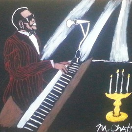 Michael Chatman: 'Brother Ray', 2014 Acrylic Painting, Portrait. Artist Description:           An acrylic painting inspired by the late great singer Ray Charles ...