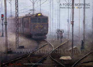 Arup Lodh: 'a foggy morning', 2008 Watercolor, Cityscape. Artist Description: Recreate the Magic of EnjoyingKolkata - a word woven with mystery. A city with as many unique interpretations as its people. Italways remained at the center of our curiosities and discussions. There is one more Kolkata which is being passed over to us through stories and tales ...