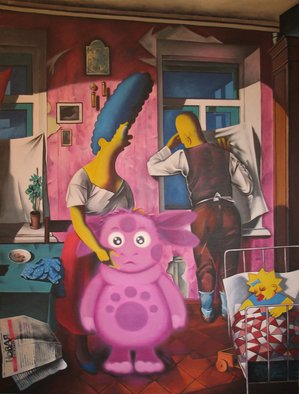 Alexander Savko Artwork Simpsons1, 2010 Acrylic Painting, Americana