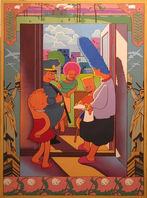 Alexander Savko Artwork Simpsons2, 2010 Acrylic Painting, Americana