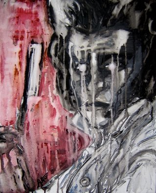 Ashleigh Gunter: 'Sweeneys Revenge', 2009 Mixed Media, Movies. Artist Description:  Sweeney' s RevengeA mixed media work created using watercolour, ink, and charcoal on canvas. 2009, Ashleigh Gunter.Based on the character Sweeney Todd played by Johnny Depp in Tim Burton' s film Sweeney Todd. ...