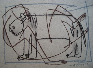 Ashok Kumar: 'Man and Animal', 2009 Other Drawing, Beauty. Artist Description:     Human being with their environment    ...