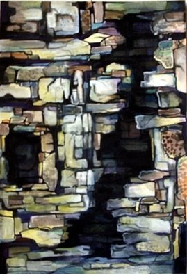 Ashok Revankar Artwork Ruins II, 2008 Watercolor, Abstract Landscape