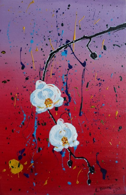 Eliza Donovan 'Japanese Orchids' | Painting Acrylic Artwork