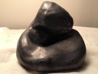 Ceramic Sculpture by Robin Hutchinson titled: Single Embrace, created in 2013