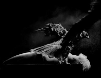 Theaterofcrueltynoh Assakra Artwork ANGEL OF DEATH, 2000 Black and White Photograph, Conceptual